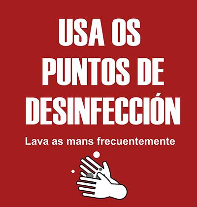 Puntos de desinfección